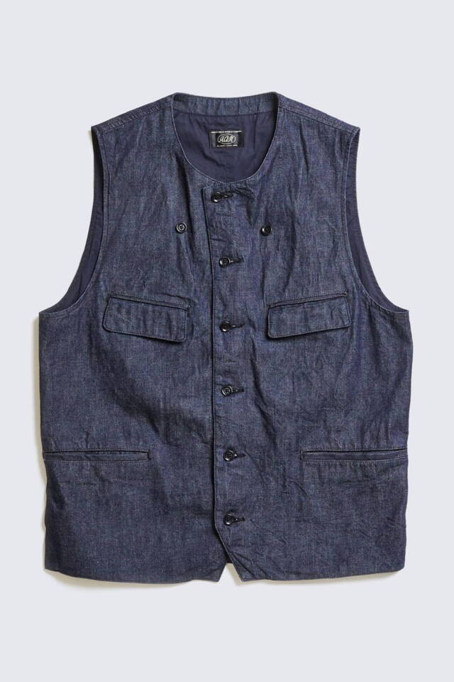 ADDICT CLOTHES JAPAN ACVM ACV-WCT01FC 4POCKETS DENIM WAISTCOAT