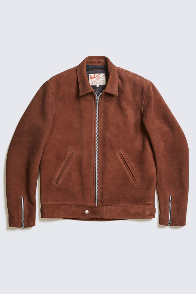 ADDICT CLOTHES JAPAN AD-01 CENTER-ZIP JACKET (DEER SUEDE) BROWN