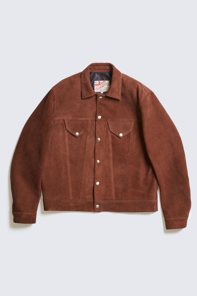 ADDICT CLOTHES JAPAN AD-08 GRANADA JACKET (DEER SUEDE) BROWN