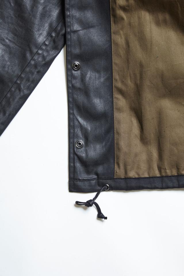 ADDICT CLOTHES JAPAN ACVM ACV-WX01 WAXED COTTON COACH JACKET BLACK