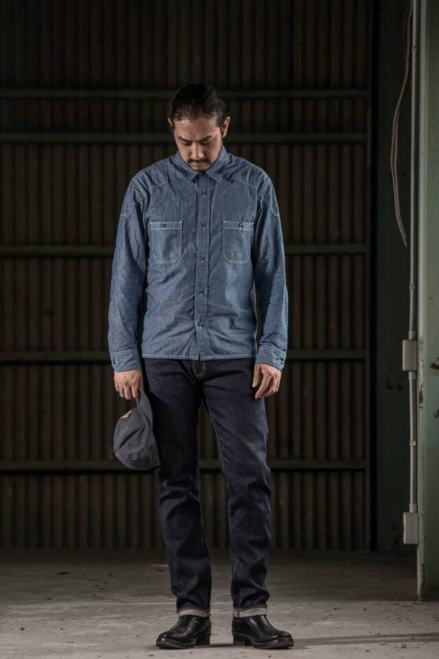 ADDICT CLOTHES JAPAN ACVM ACV-P02 TIGHT TAPERED STRETCH DENIM INDIGO