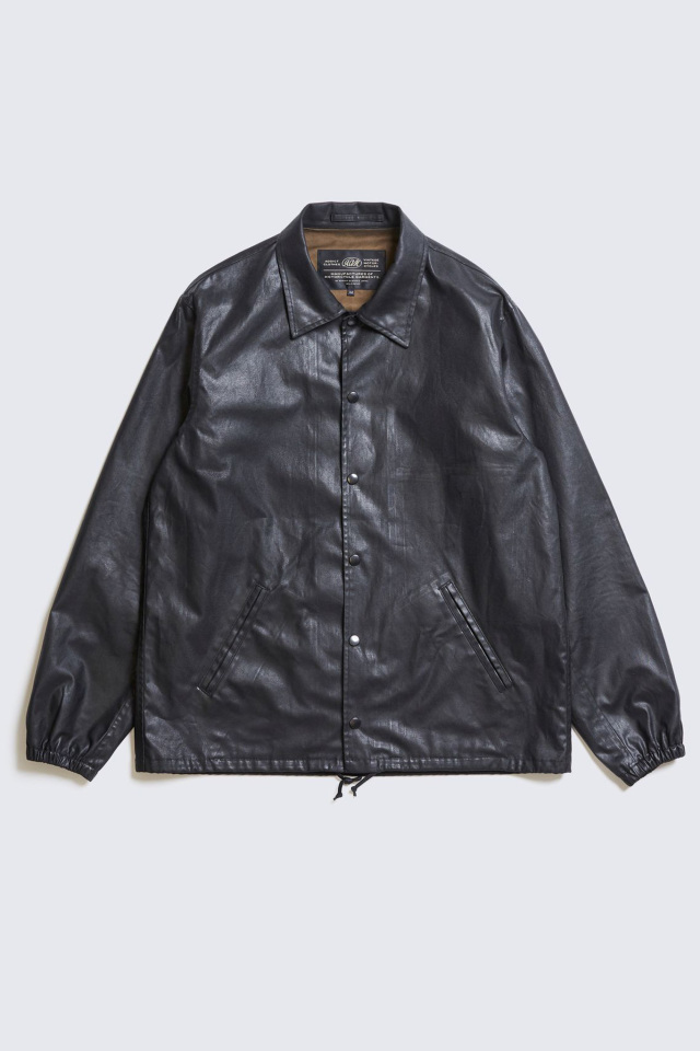 ADDICT CLOTHES JAPAN ACVM ACV-WX01 WAXED COTTON COACH JACKET BLACK