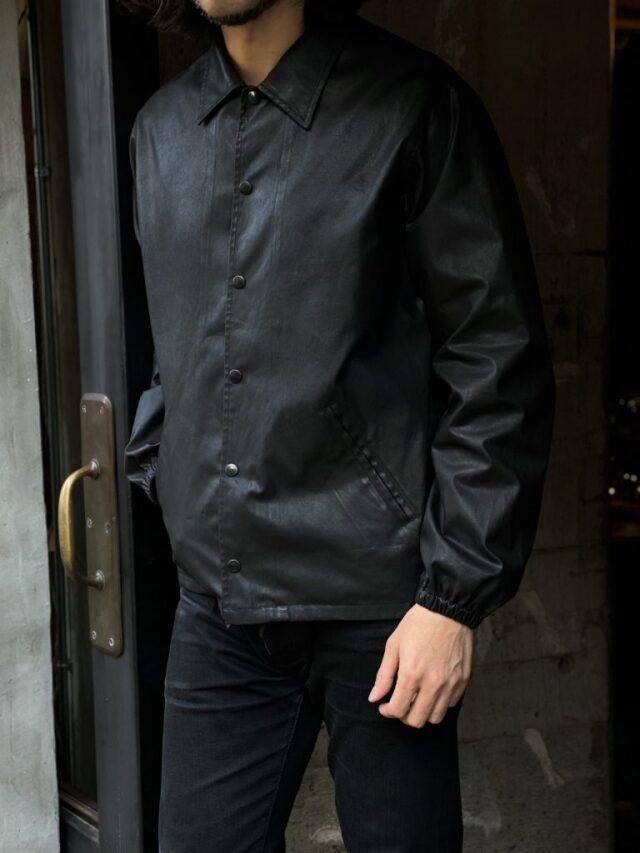 ADDICT CLOTHES JAPAN ACVM ACV-WX03 WAXED COTTON COACH JACKET BLACK