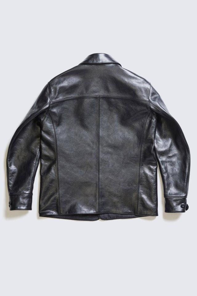 ADDICT CLOTHES JAPAN ACVM ACV-LJK02 HORSEHIDE CAR COAT BLAC