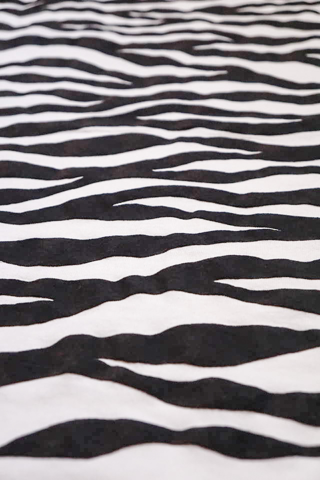 "BAA COSTUME MFG. ""ZEBRA BACK"" POCKET TEE WHT/BLK"