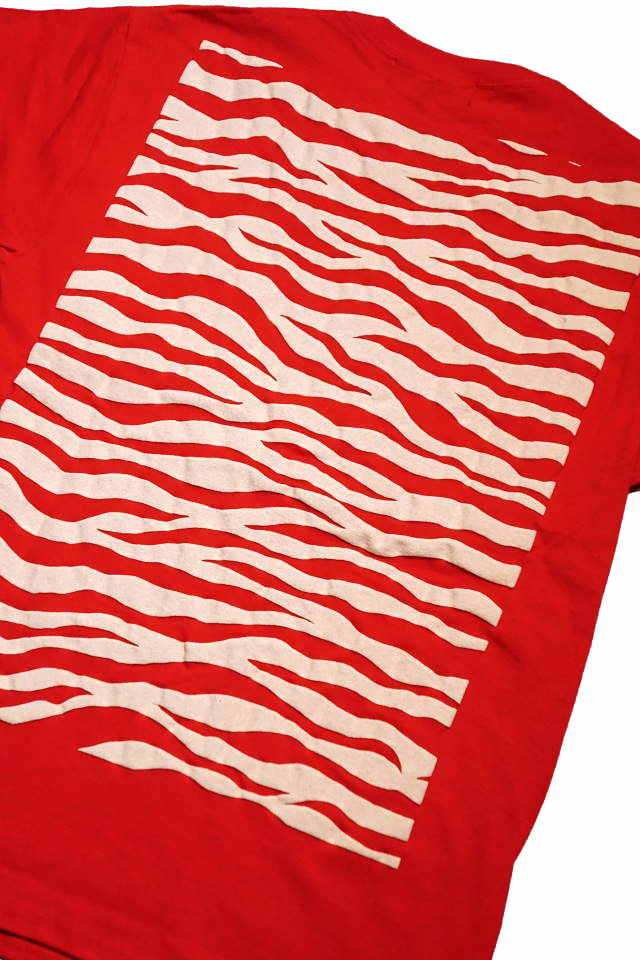 "BAA COSTUME MFG. ""ZEBRA BACK"" POCKET TEE RED/WHT"