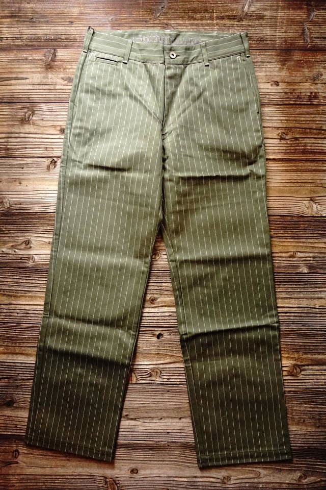 B.S.M.G. STRIPE WORK - PANTS KHAKI