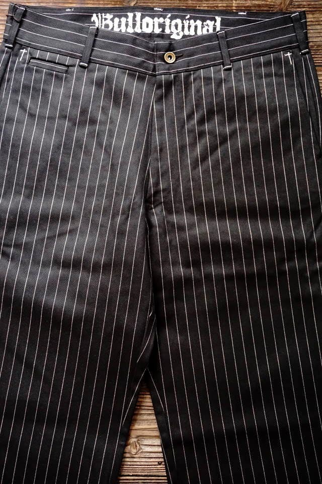 B.S.M.G. STRIPE WORK - PANTS BLACK