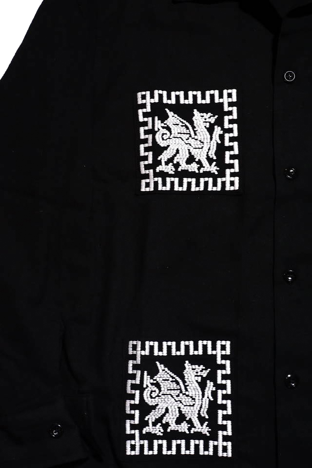 B.S.M.G. DRAGON GUATEMALA - L/S SHIRTS BLACK