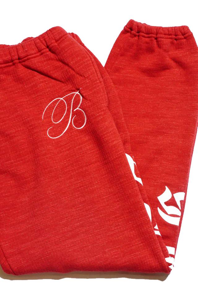 B.S.M.G. B LETTERS SWEAT - PANTS RED
