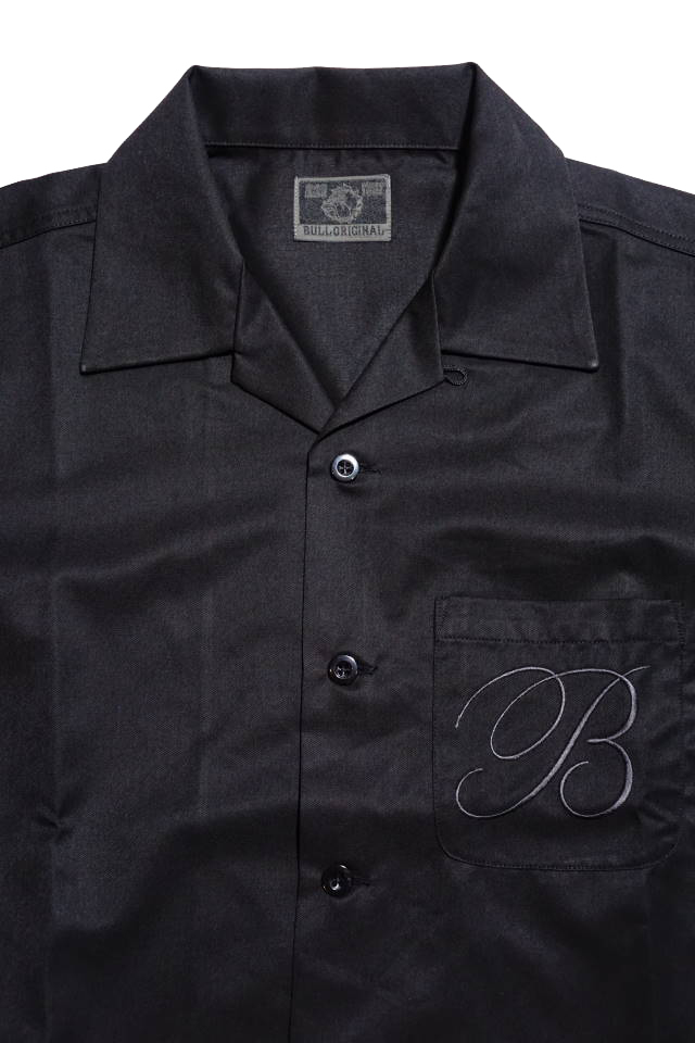 B.S.M.G. B LETTERS - S/S SHIRTS BLACK