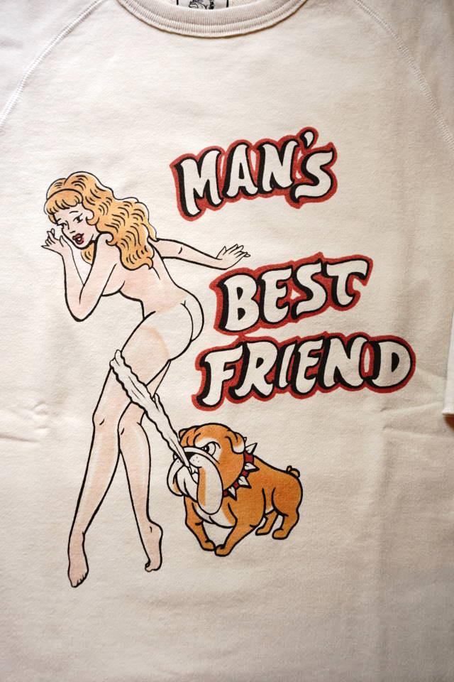 "Bull Classics 1/2 SLEEVE SWEAT ""Best Friend"" WHITE"