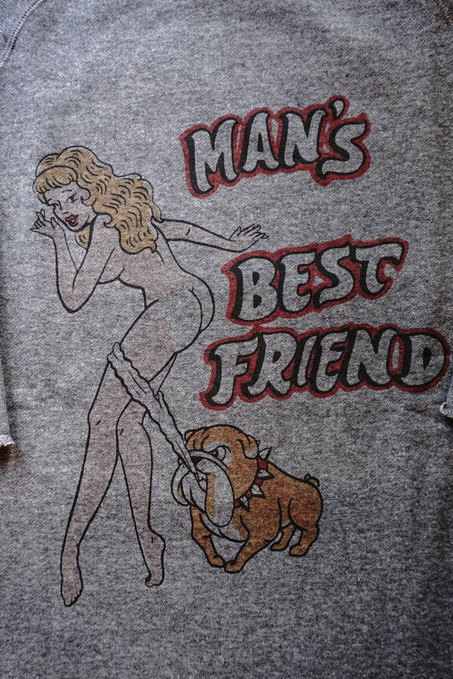 "Bull Classics 1/2 SLEEVE SWEAT ""Best Friend"" BLACK"