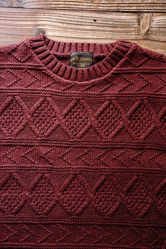 BY GLAD HAND ISLANDS - CREWNECK BURGUNDY