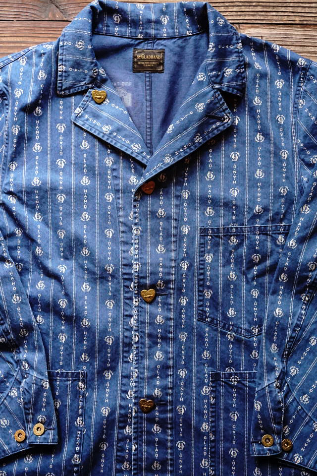 "BY GLAD HAND HEARTLAND - COVERALL INDIGO ""VINTAGE FINISH"""