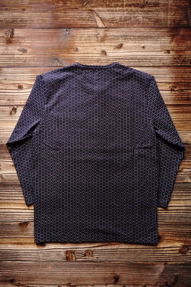 BY GLAD HAND WARDROBE - L/S HENRY NECK T-SHIRTS NAVY