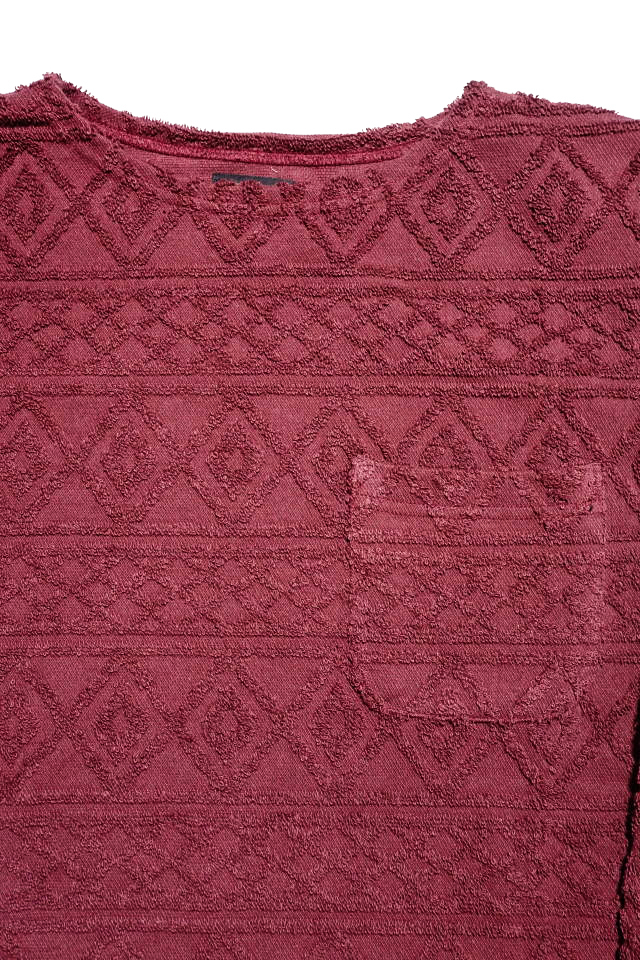 BY GLAD HAND ISLAND - L/S BOAT NECK BURGUNDY