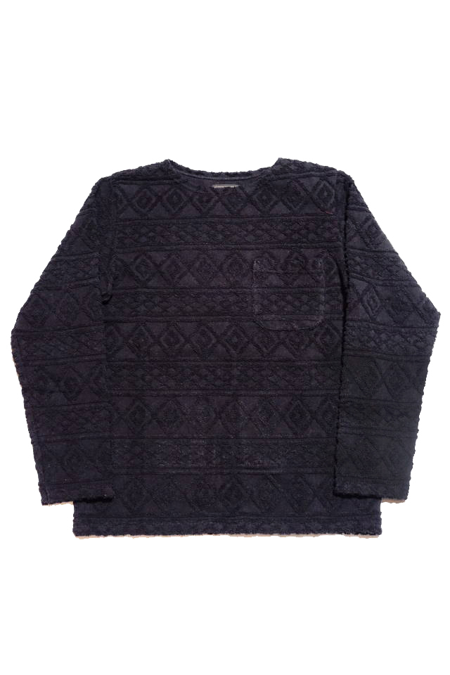 BY GLAD HAND ISLAND - L/S BOAT NECK BLACK