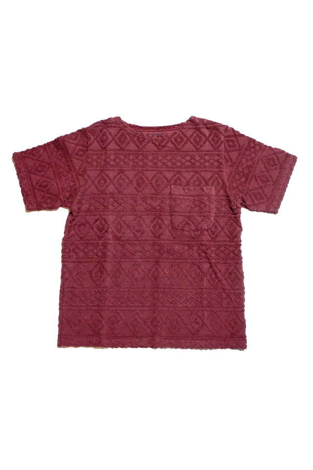 BY GLAD HAND ISLAND - S/S BOAT NECK BURGUNDY