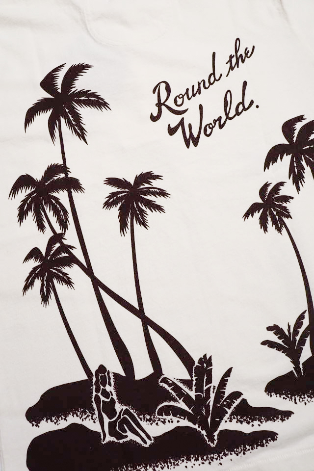 BY GLAD HAND ROUND THE WORLD - S/S HENRY NECK T-SHIRTS WHITE
