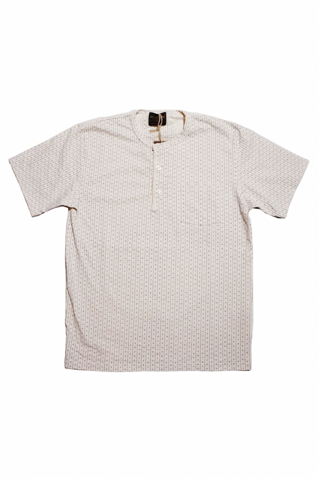 BY GLAD HAND WARDROBE - S/S HENRY NECK T-SHIRTS IVORY