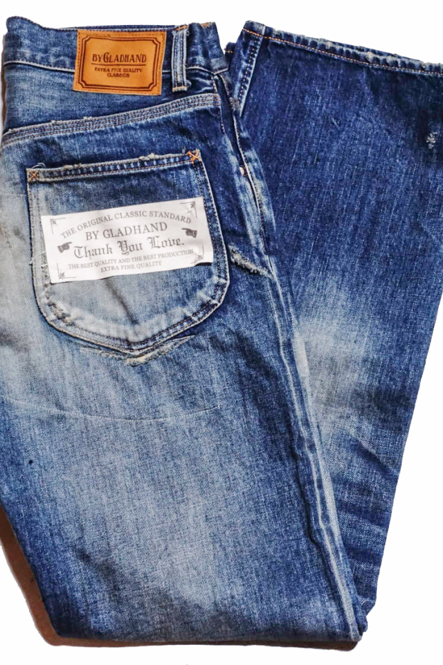 "BY GLAD HAND GLADDEN - DENIM ""TYPE-1 B"" INDIGO VINTAGE FINISH"