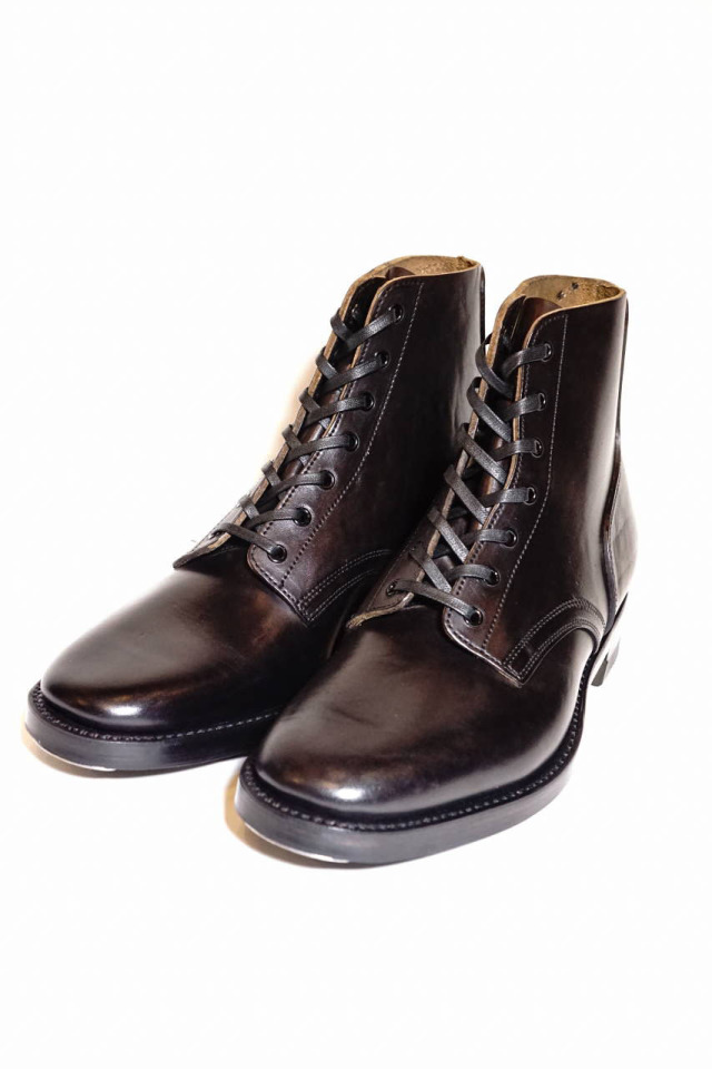"CLINCH Yeager boots Horsebutt overdye BLACK ""Leather Sole + HRS + TRビーンズ"""