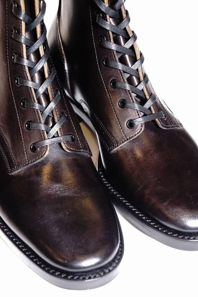 """CLINCH Yeager boots Horsebutt overdye BLACK """"Leather Sole + HRS + TRビーンズ"""""""