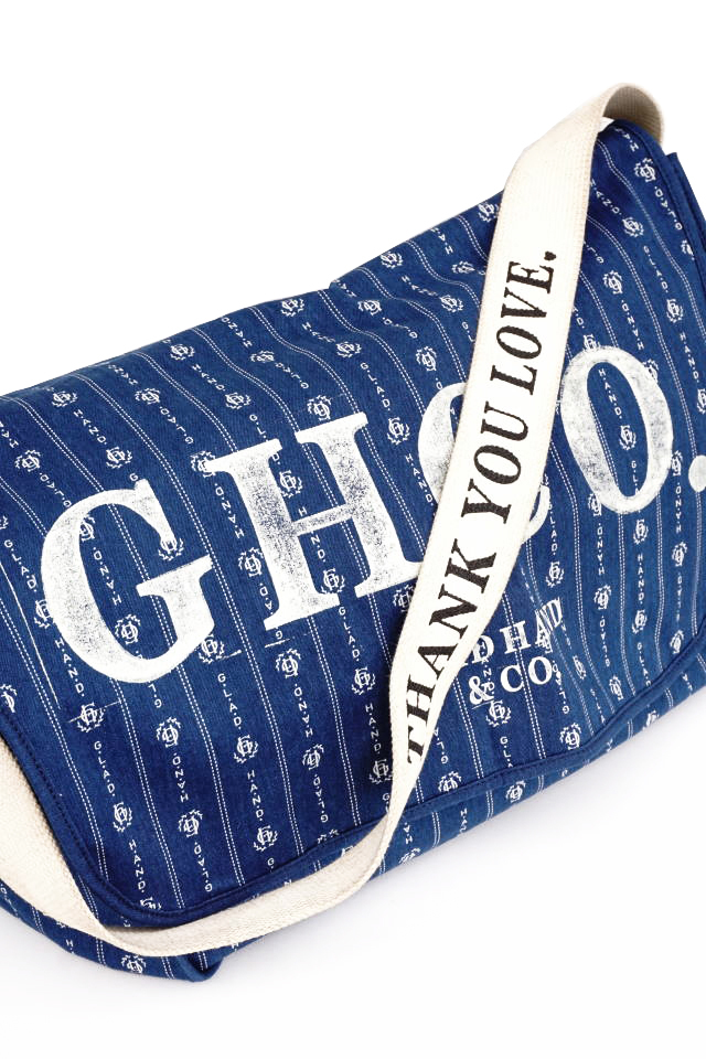 "GLAD HAND & Co. HEARTLAND - NEWS PAPER BAG INDIGO ""VINTAGE FINISH"""
