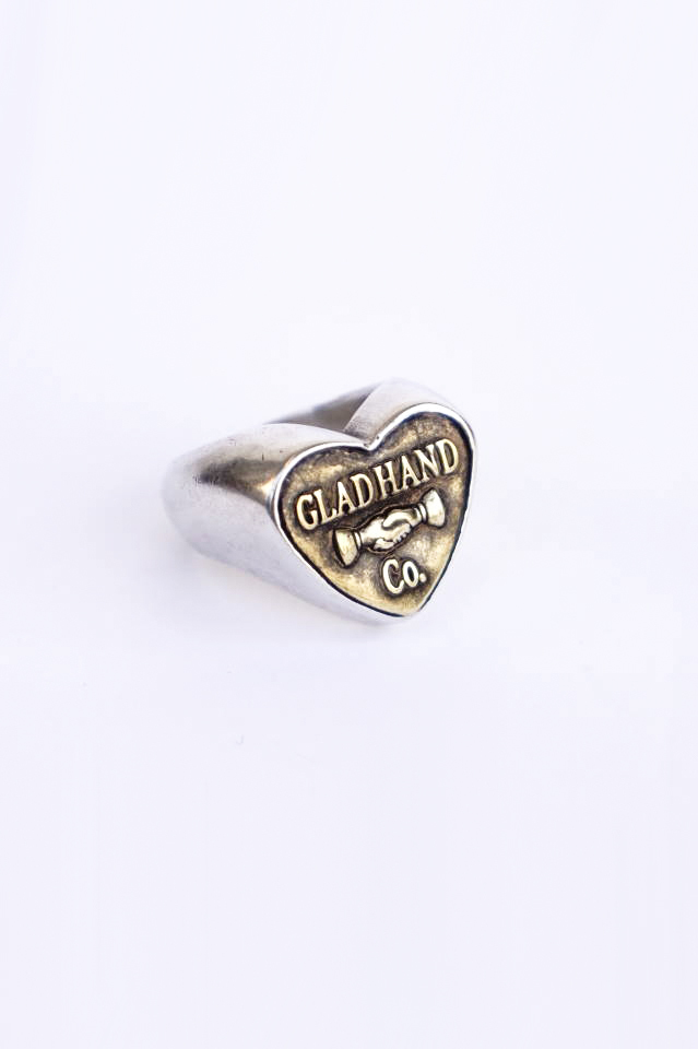 "GLAD HAND. BUTTON RING ""HEART"" SMALL"