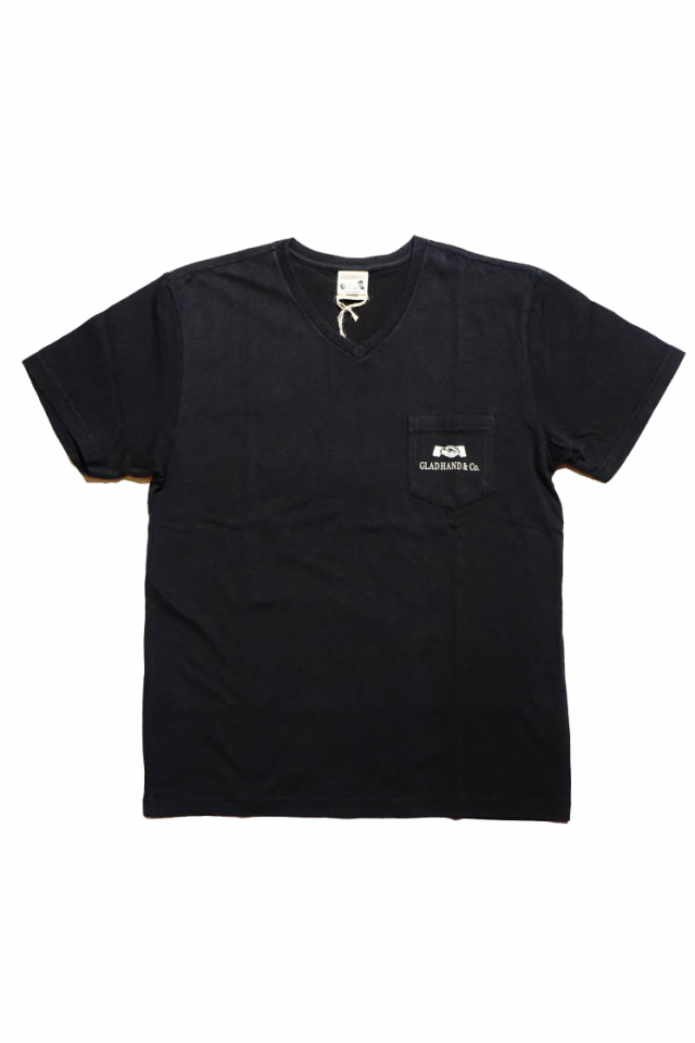 GLAD HAND GH DAILY - V-NECK T-SHIRTS BLACK