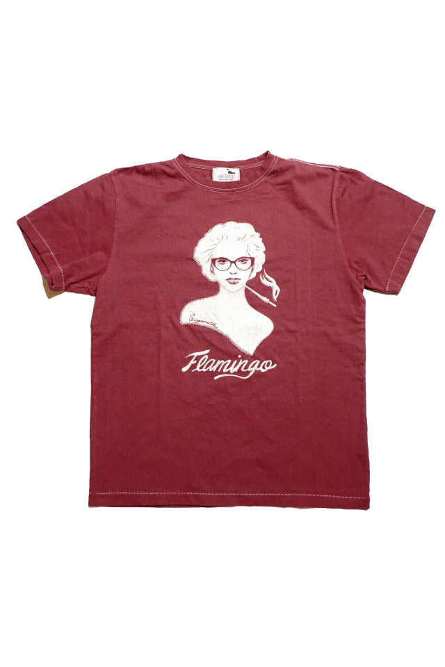 GANGSTERVILLE VIRGINIA - S/S T-SHIRTS BURGUNDY