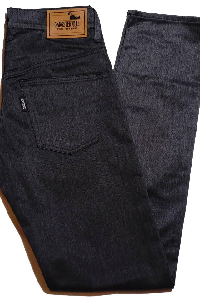 GANGSTERVILLE THUG - CHINO PANTS SLIM BLACK