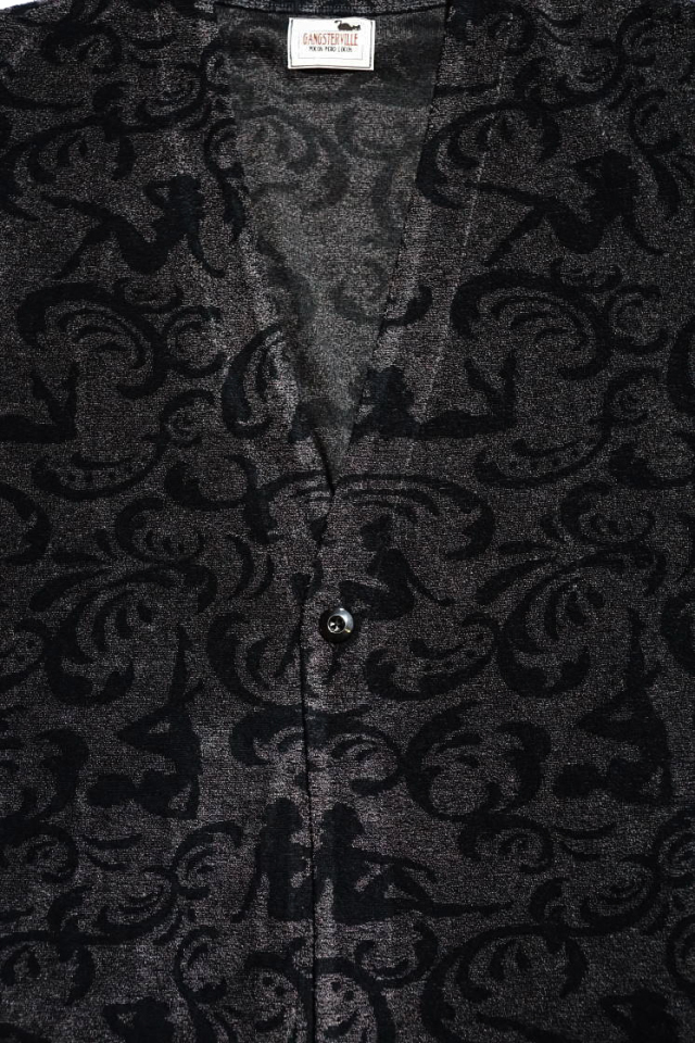 GANGSTERVILLE SPEAKEASY - H/S CARDIGAN BLACK