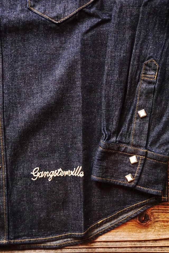 GANGSTERVILLE BOTTLER - L/S SHIRTS INDIGO