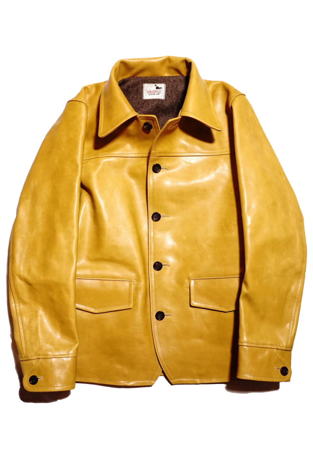 "GANGSTERVILLE 30'S CAR -  COAT ""HORSE HIDE"" CAMEL"