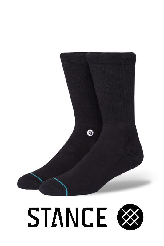STANCE SOCKS Icon BLACK/WHITE