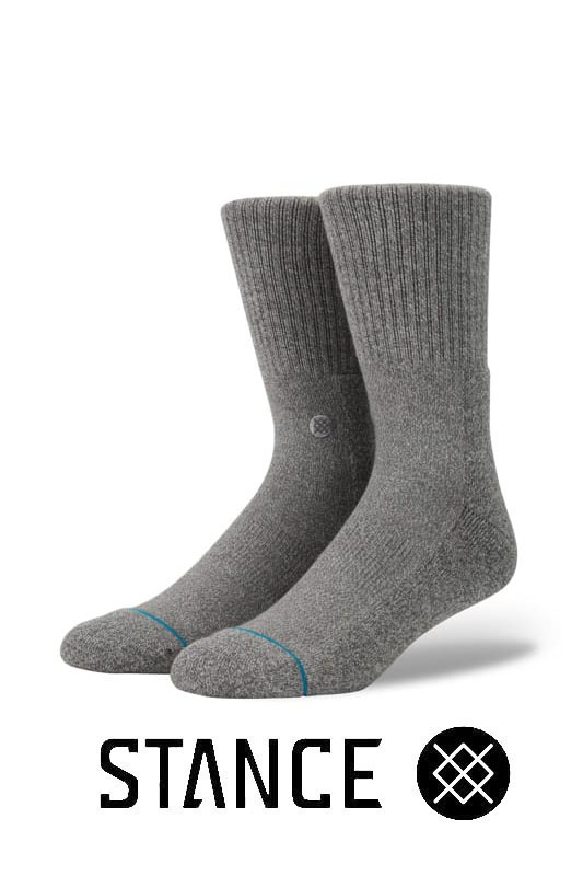 STANCE SOCKS Icon GRAY/HEATHER