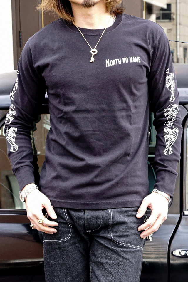 "NORTH NO NAME NNN PATCH PATTERN L/S T ""EAGLE"" BLACK"