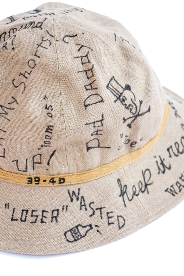 "NORTH NO NAME ""MESSAGE"" LINEN HAT"
