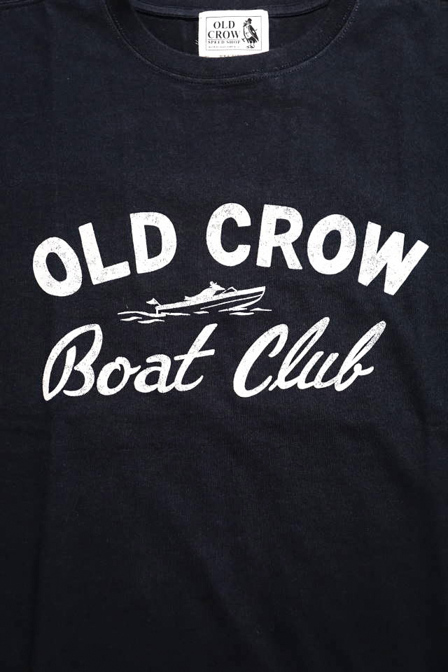 OLD CROW BOAT CLUB - S/S T-SHIRTS BLACK