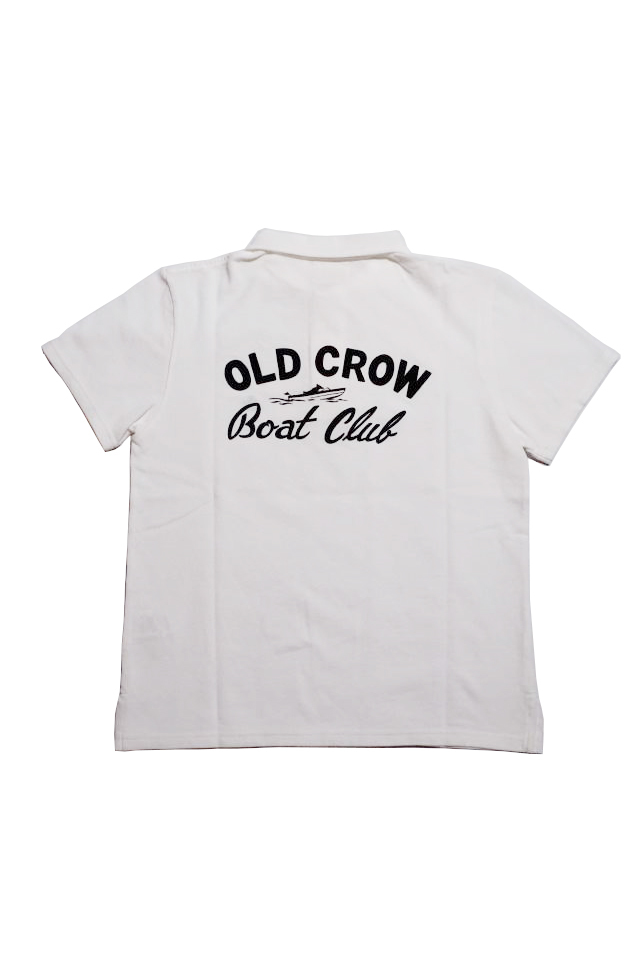 OLD CROW BOAT CLUB - S/S POLO SHIRTS WHITE