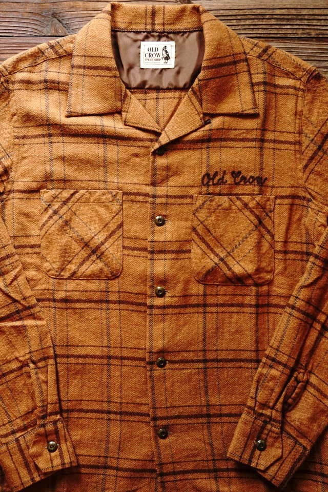 OLD CROW OLDROD CHECK - L/S SHIRTS BROWN