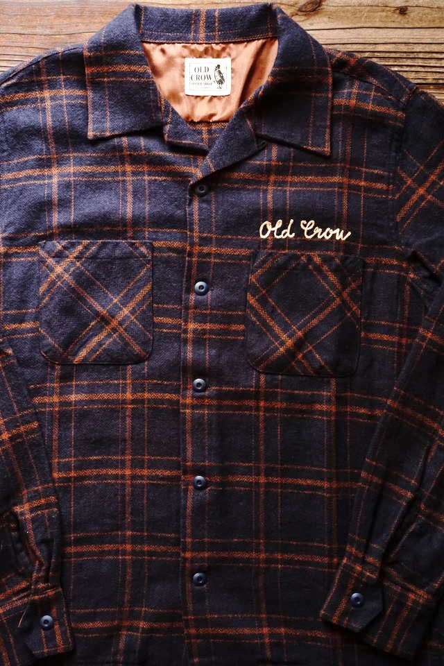 OLD CROW OLDROD CHECK - L/S SHIRTS NAVY