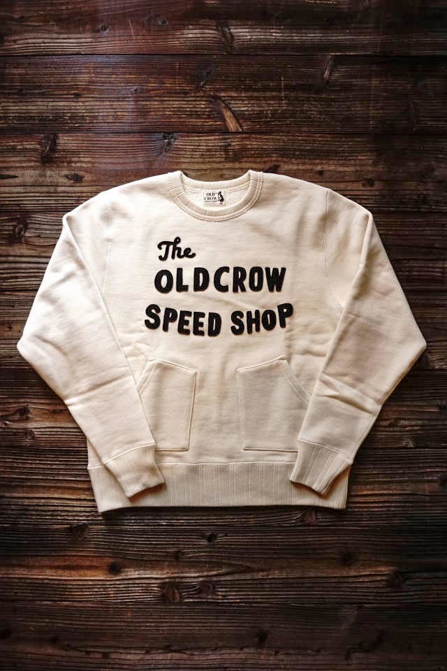 OLD CROW RODDER CLUB - SWEAT IVORY×NAVY