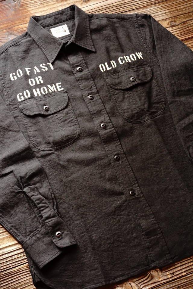 OLD CROW RODDER WORKER - L/S SHIRTS BLACK