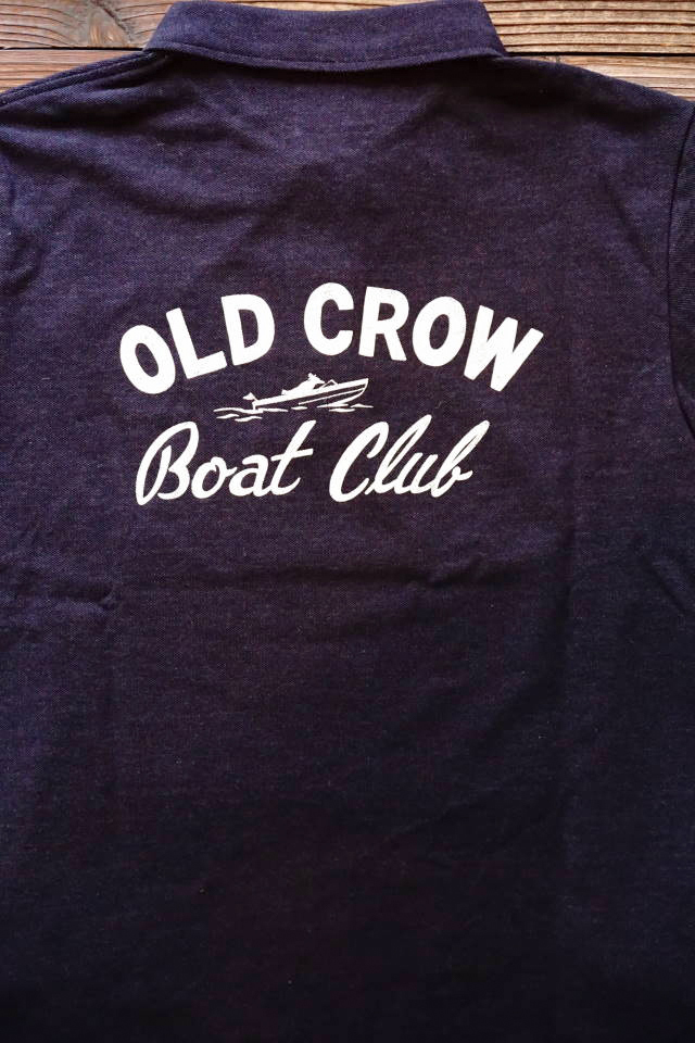 OLD CROW BOUT CLUB - L/S POLO SHIRTS NAVY
