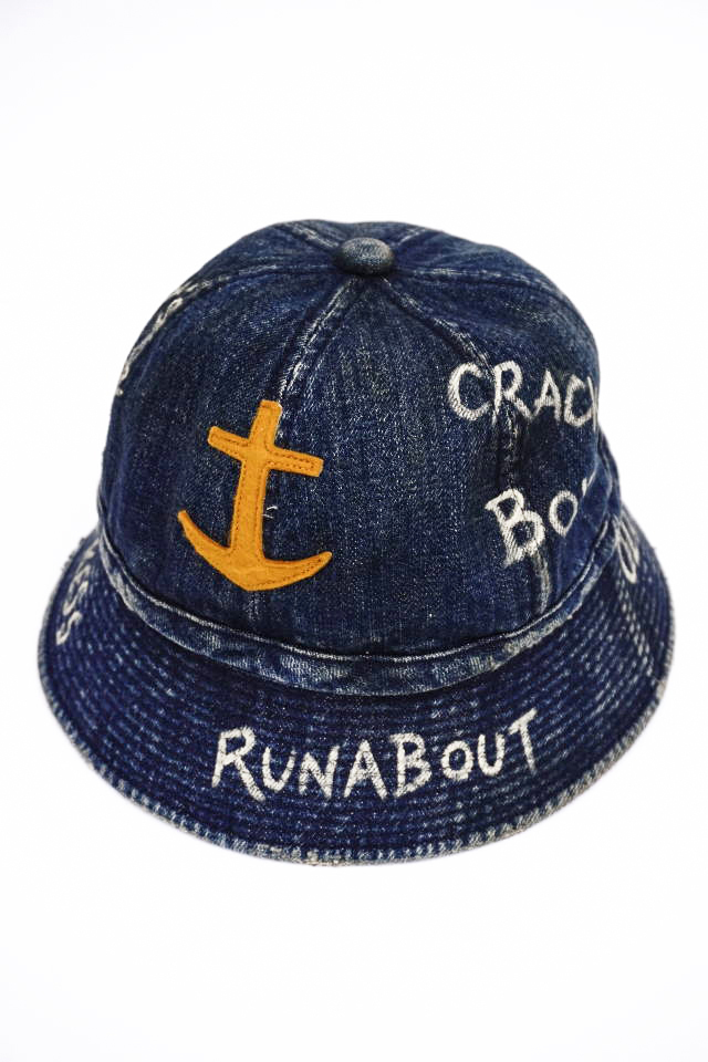 "OLD CROW RUNABOUT - HAT INDIGO ""VINTAGE FINISH"""