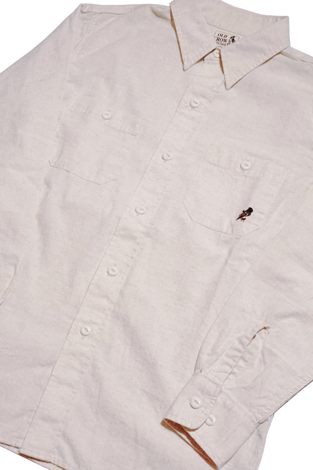 OLD CROW - L/S SHIRTS IVORY