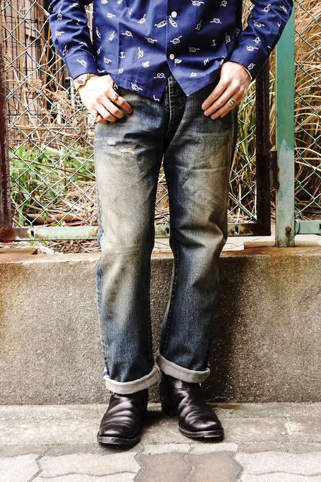 "OLD CROW OLD RODDER - DENIM PANTS ""VINTAGE FINISH"""
